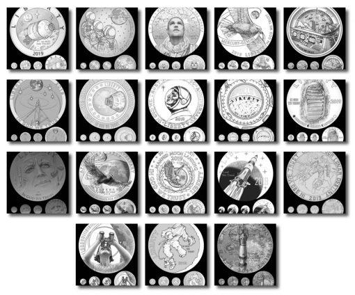 Obverse Apollo 11 Commemorative Coin Design Candidates