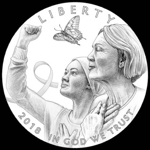Obverse Design for 2018 Breast Cancer Awareness Commemorative Coins