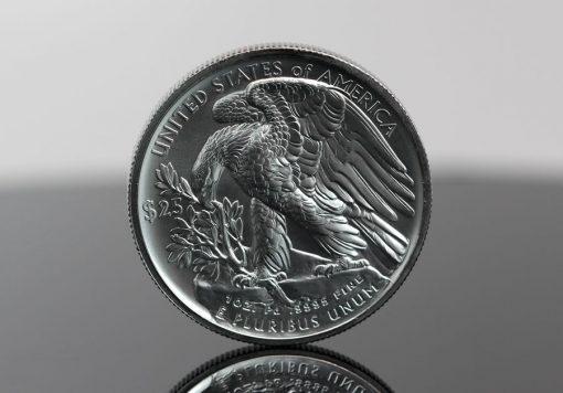 Photo of 2017 $25 American Eagle Palladium Bullion Coin (Reverse)