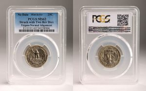 PCGS Certifies Rare Washington 25c Errors, Including Two-Tailed Quarter