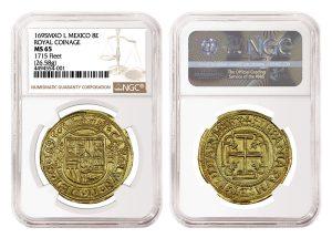 NGC Grades Rare 1695 Royal 8 Escudos