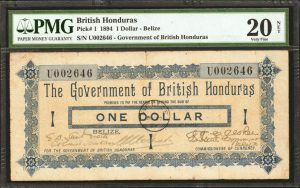Stack's Bowers to Auction 1894 British Honduras One Dollar Note