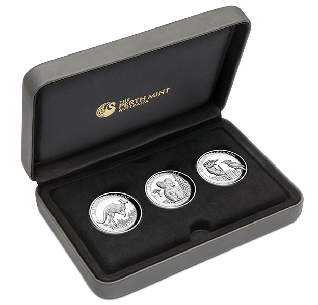 2017 Australian 1oz Silver Proof High Relief Three-Coin Collection