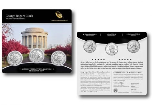 2017 George Rogers Clark Quarters Three-Coin Set