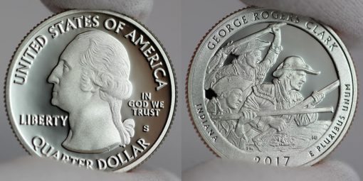 2017-S Clad Proof George Rogers Clark Quarter - Obverse and Reverse
