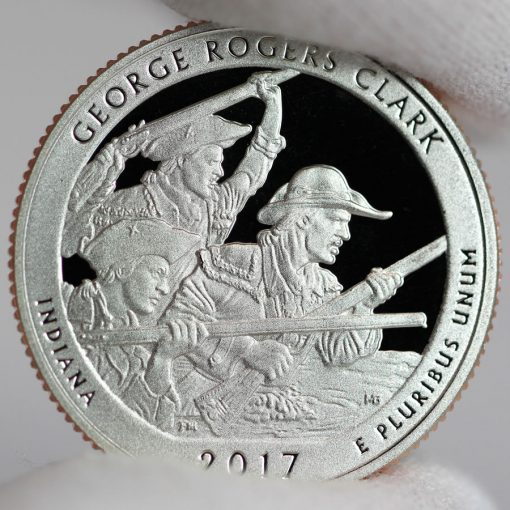 2017-S Clad Proof George Rogers Clark Quarter - Reverse,a
