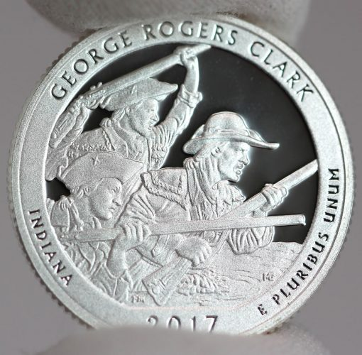 2017-S Silver Proof George Rogers Clark Quarter - Reverse