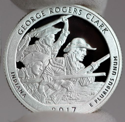 2017-S Silver Proof George Rogers Clark Quarter - Reverse,a