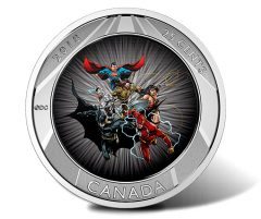 2018 25c The Justice League 3D Coin - Distance View