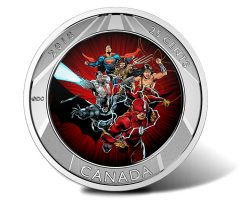 2018 25c The Justice League 3D Coin - Rushing Towards View