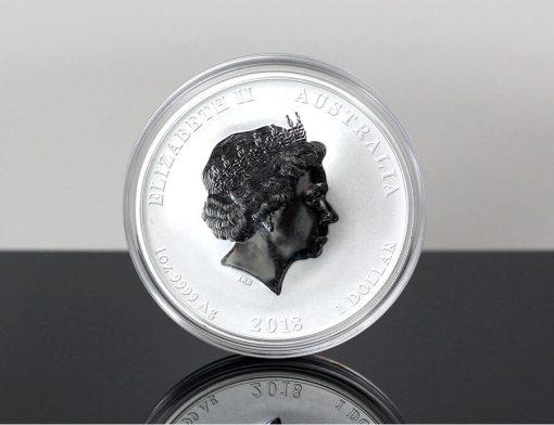 Australian 2018 Year of the Dog 1oz Silver Bullion Coin - Obverse