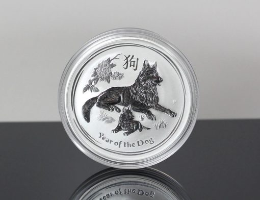 Australian 2018 Year of the Dog 1oz Silver Bullion Coin - Reverse