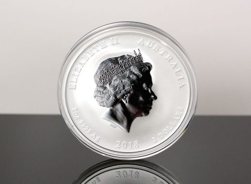 Australian 2018 Year of the Dog 2oz Silver Bullion Coin - Obverse