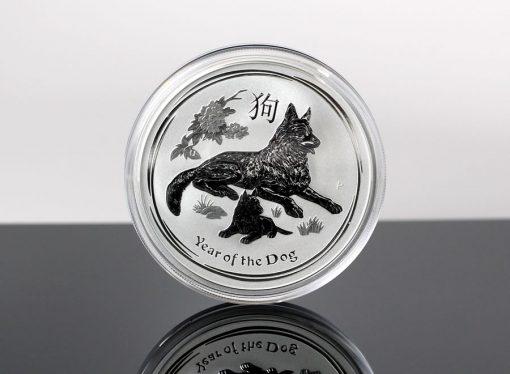 Australian 2018 Year of the Dog 2oz Silver Bullion Coin - Reverse