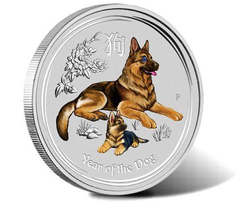 Australian Lunar Series II Year of the Dog 2018 1 Kilo Silver Gemstone Edition