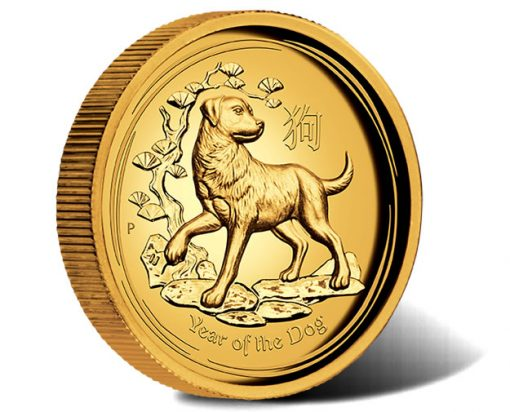 Australian Lunar Series II Year of the Dog 2018 1oz Gold Proof High Relief Coin