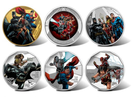 Canadian 2018 Justice League Collector Coins