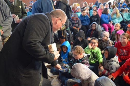 Children Receive George Rogers Clark Quarter