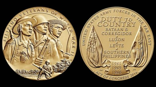 Filipino Veterans of World War II Bronze Medal