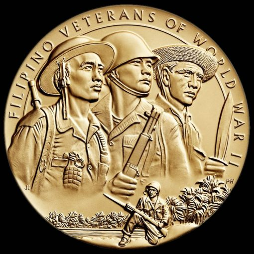 Filipino Veterans of World War II Bronze Medal - Obverse