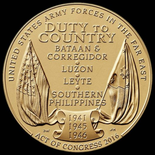 Filipino Veterans of World War II Bronze Medal - Reverse