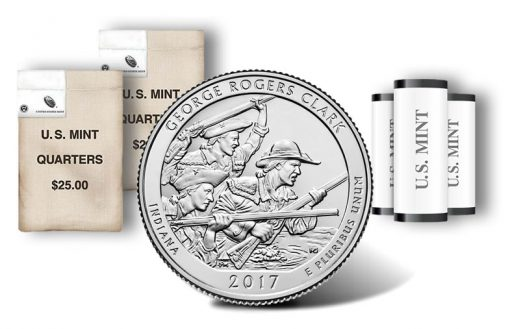 George Rogers Clark quarter, rolls and bags