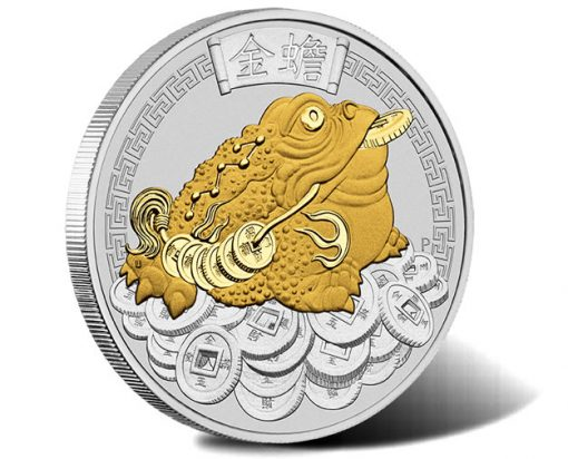 Money Toad 2018 1oz Silver Gilded Coin