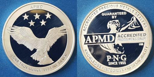 PNG APMD 1oz .999 silver round
