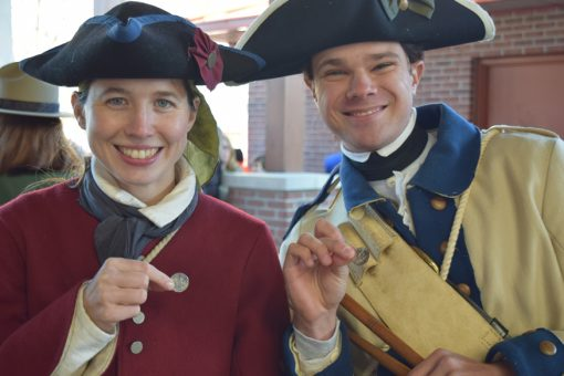 Two members of the George Rogers Clark Fife and Drum grou
