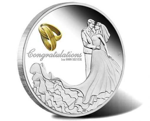 Wedding 2018 1oz Silver Proof Coin