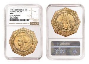 NGC Certifies Rare 1915 Panama-Pacific Double Set