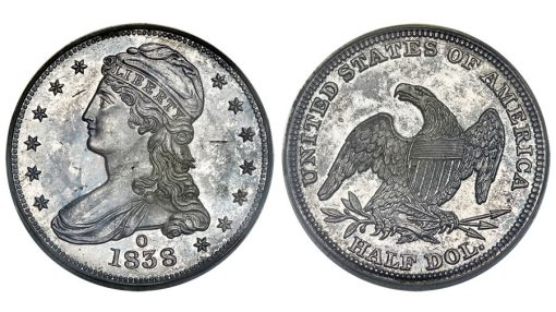1838-O Reeded Edge Half Dollar