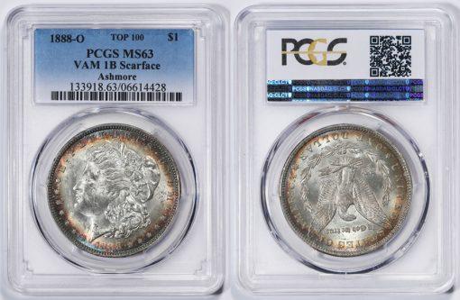1888-O Morgan Silver Dollar VAM 1B Scarface