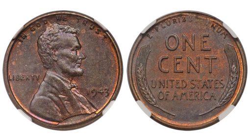 1943 Lincoln Cent in Bronze