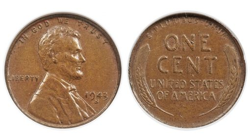 1943-S 1C Struck on a Bronze Planchet