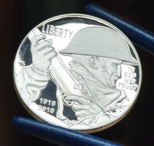 2018-P Proof World War I Centennial Silver Dollar - Obverse
