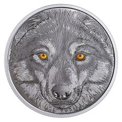 Canadian 2017 $15 Wolf Coin Features Glow-in-the-Dark Eyes