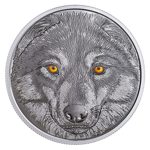 Canadian 2017 $15 Wolf Coin - glow-in-dark