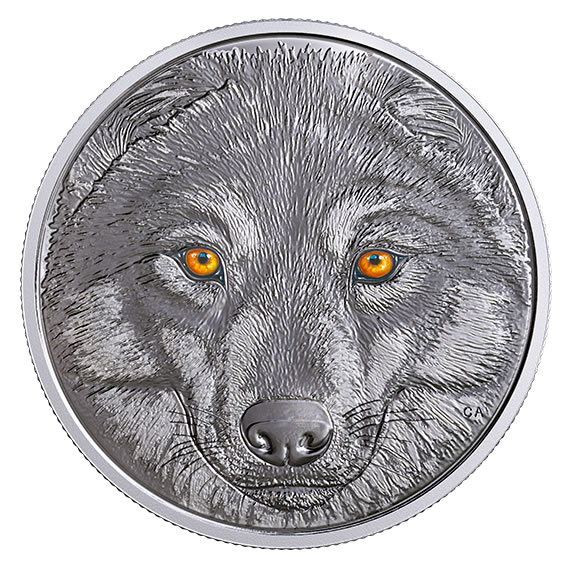 Canadian 2017 $15 Wolf Coin - glow-in-dark