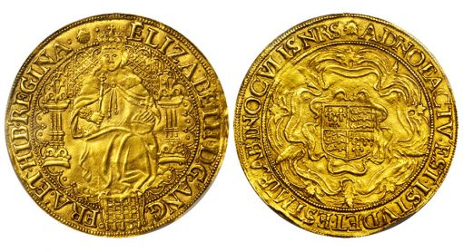 GREAT BRITAIN. Sovereign, ND (1584-86). Elizabeth I (1558-1603). PCGS AU-58 Secure Holder