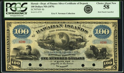 Hawaii Kingdom of Hawaii $100 ND (1879) Pick 4b Remainder