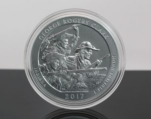 US Mint Sales: George Rogers Clark 5 Oz Coin Debuts
