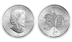 2018 30th Anniversary Silver Maple Leaf Bullion Coins Announced