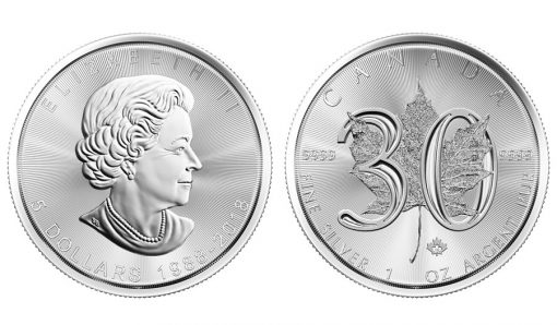 2018 30th Anniversary SML bullion coin