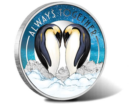 2018 Always Together - Penguins 1-2oz Silver Proof Coin