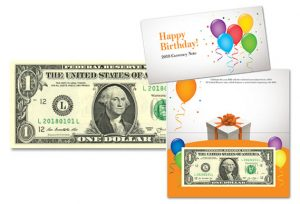Happy Birthday $1 Note Features '2018xxxx' Serial Number