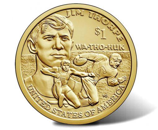 2018 Native American $1 Coin - Jim Thorpe Reverse