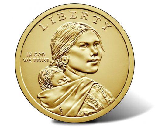 2018 Native American $1 Coin - Sacagawea Obverse