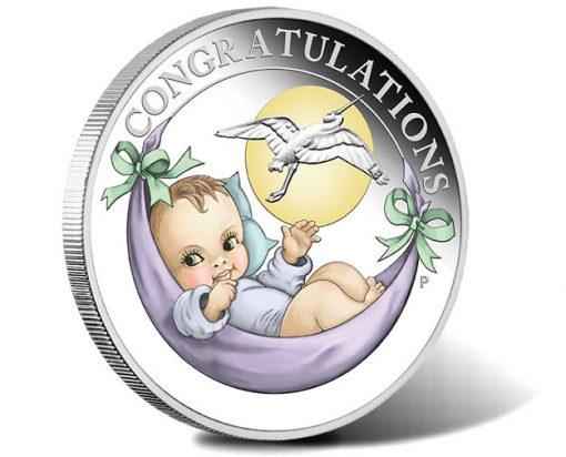 2018 Newborn Baby 1-2oz Silver Proof Coin