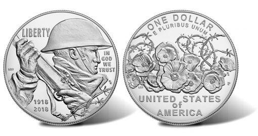 2018-P Proof World War I Centennial Silver Dollar